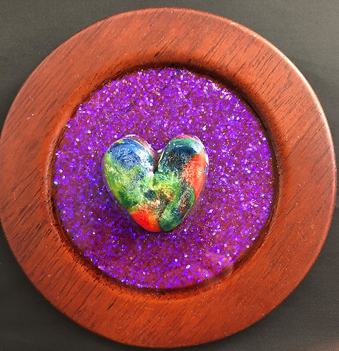 Plated Love - Purple Glitter