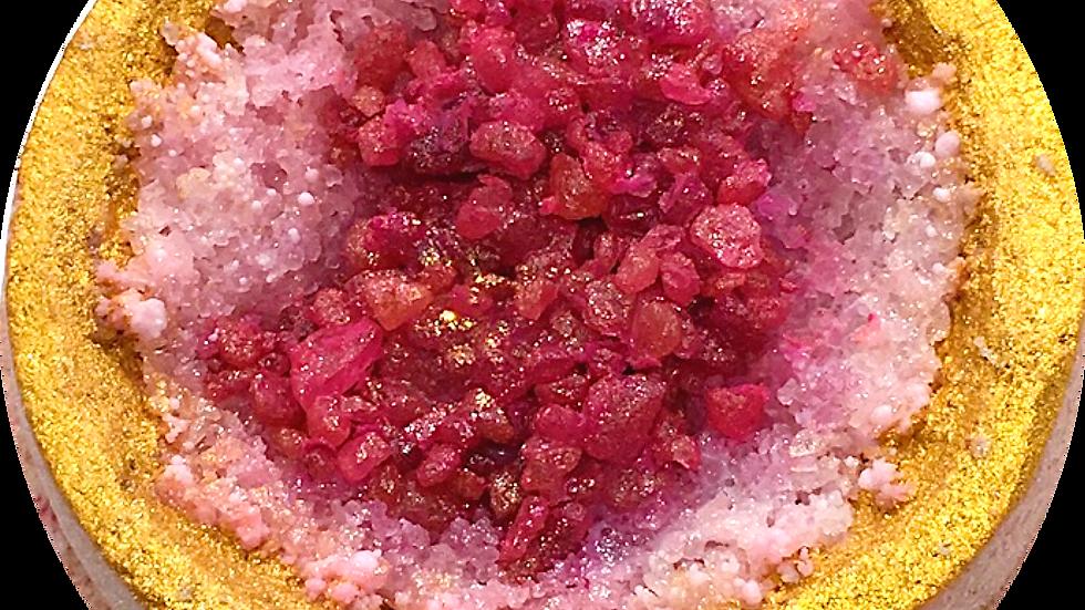 Love Bath Bomb (Rose & Oud)Inspired by Rose Quartz Crystal