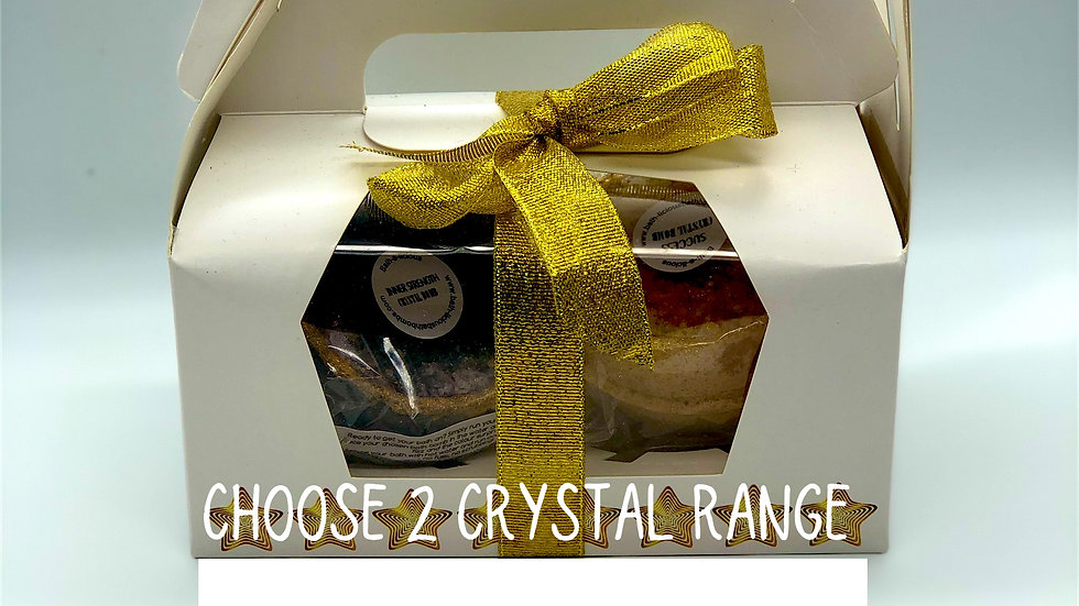 Mix and Match Crystal Twin Bath Bomb Gift Set  (online only)