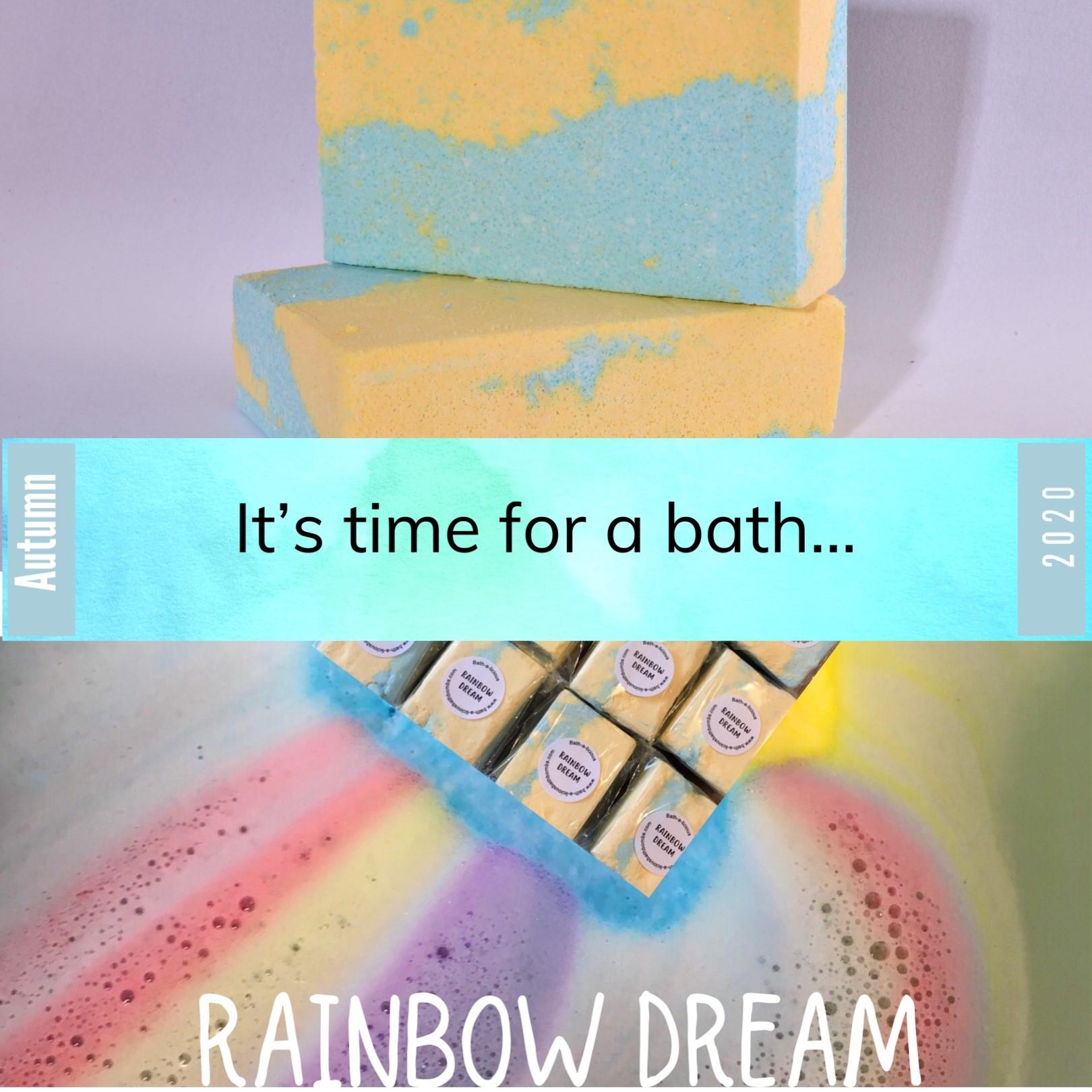 Rainbow Dream Time for a bath