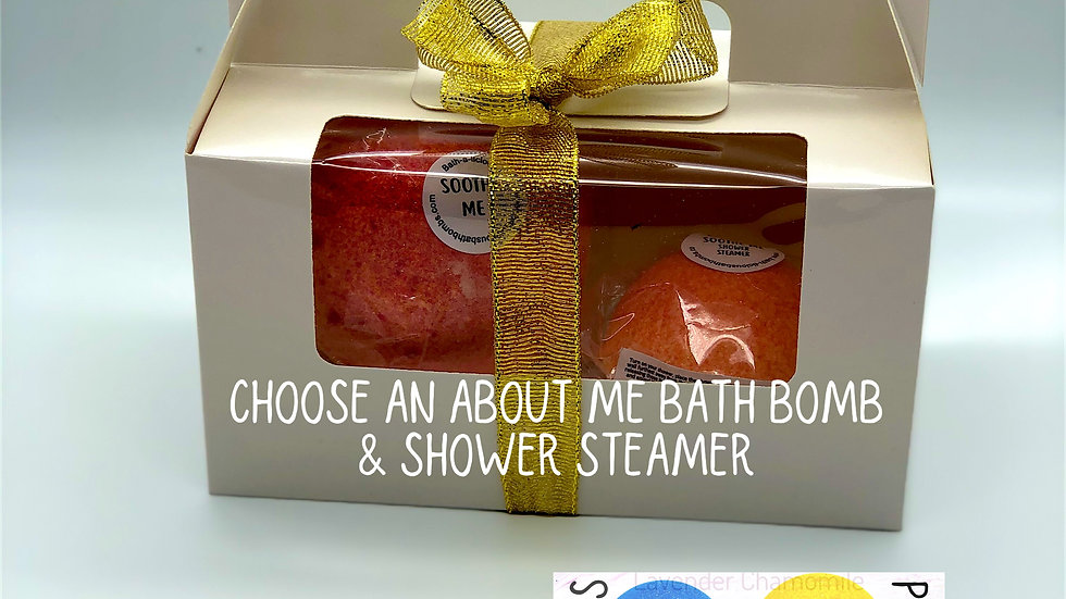 Mix and Match About Me Bath Bomb & Shower Steamer Gift Set (online only)