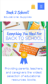 Arts & Crafts website templates – School Supplies