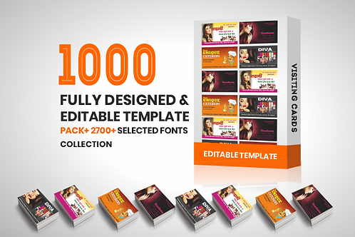 1000 Visiting Cards Fully Editable Templates