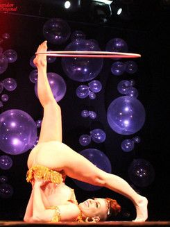 Vivacious Miss Audacious Dripping in Gold Hula Hoop