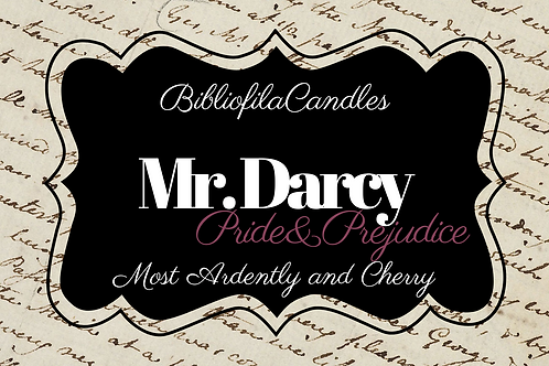 Mr. Darcy | Pride and Prejudice inspirierte Kerze