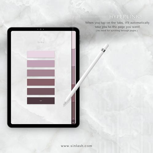 Digital Notebook - Mauve