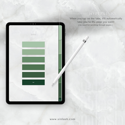 Digital Notebook - Green