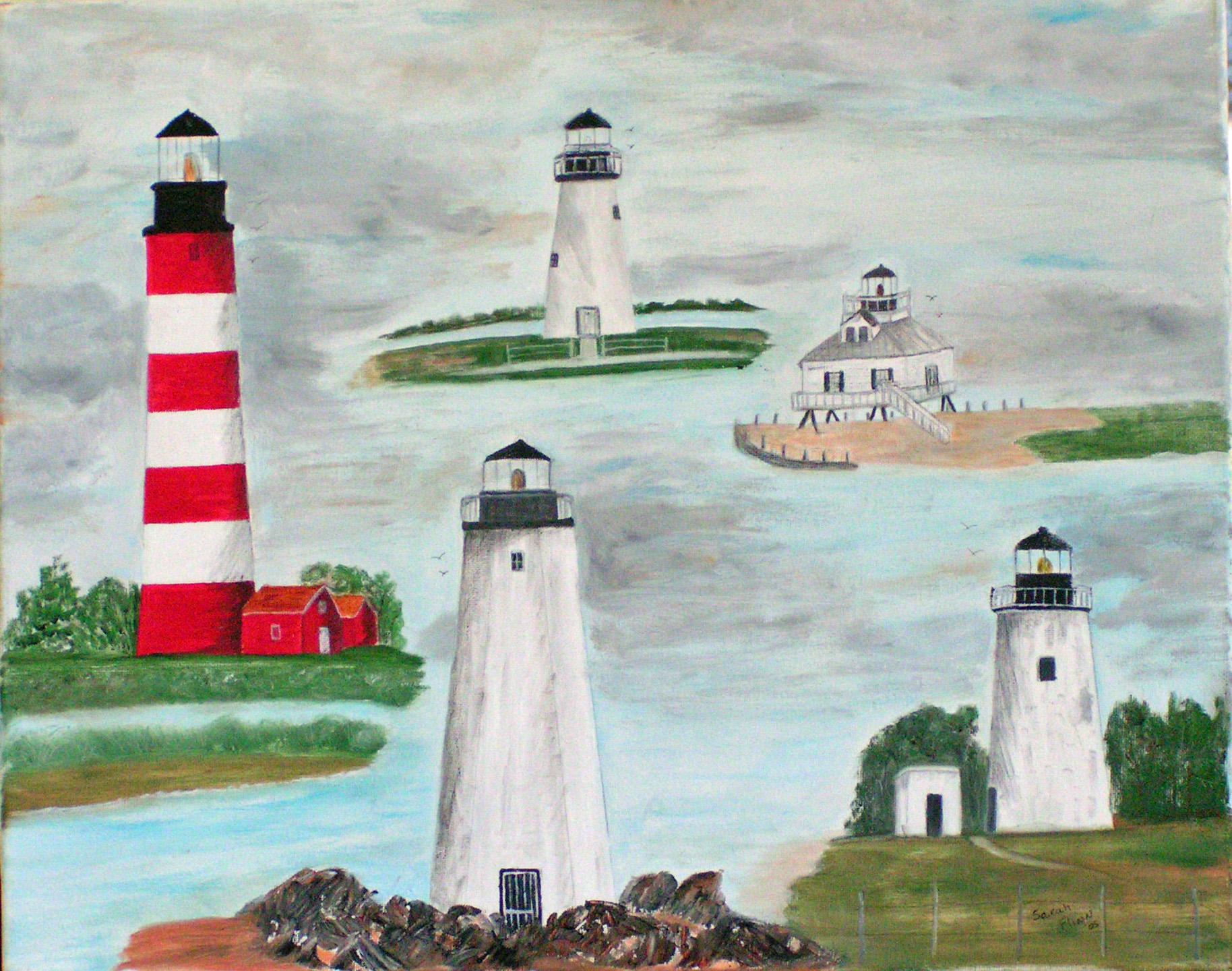 Md & Va Lighthouses, Sarah Flinn