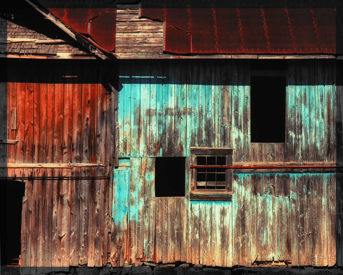 """The Blue Barn"" by Norma Woodward"