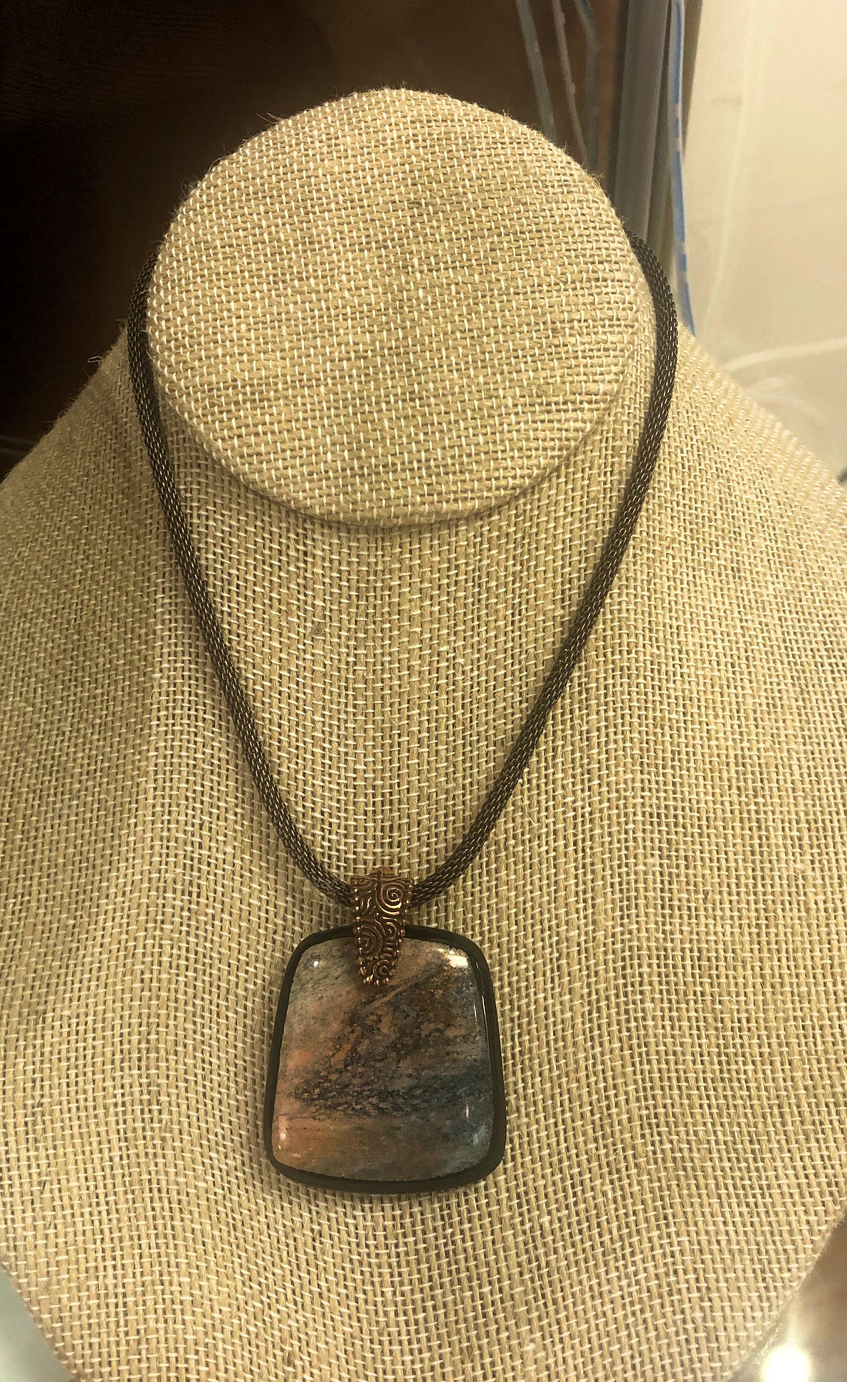"""""""Trapezoid Shaped Pendant,"""" by Lisa Gillen."""
