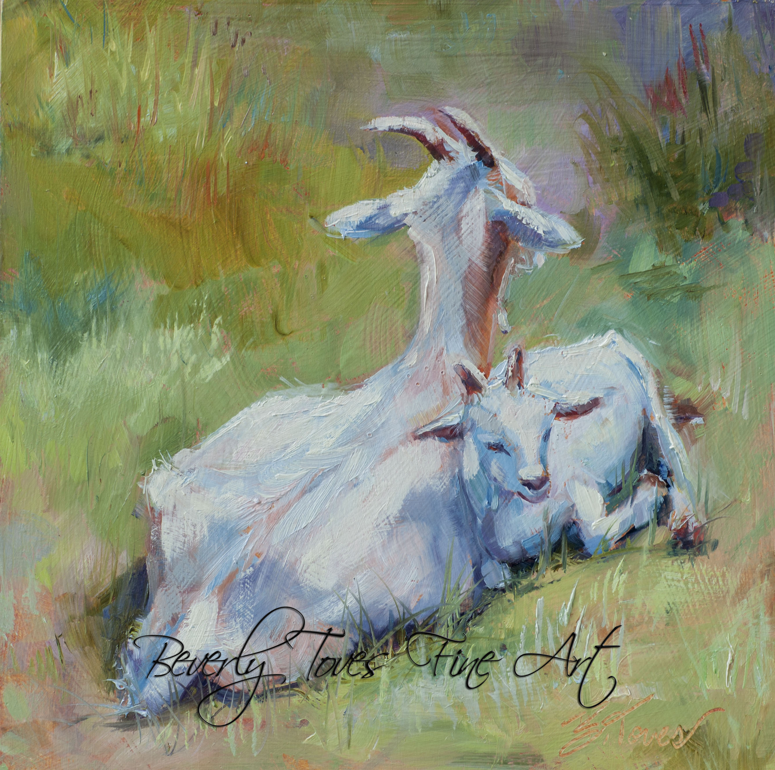 """Resting,"" by Beverly Toves."