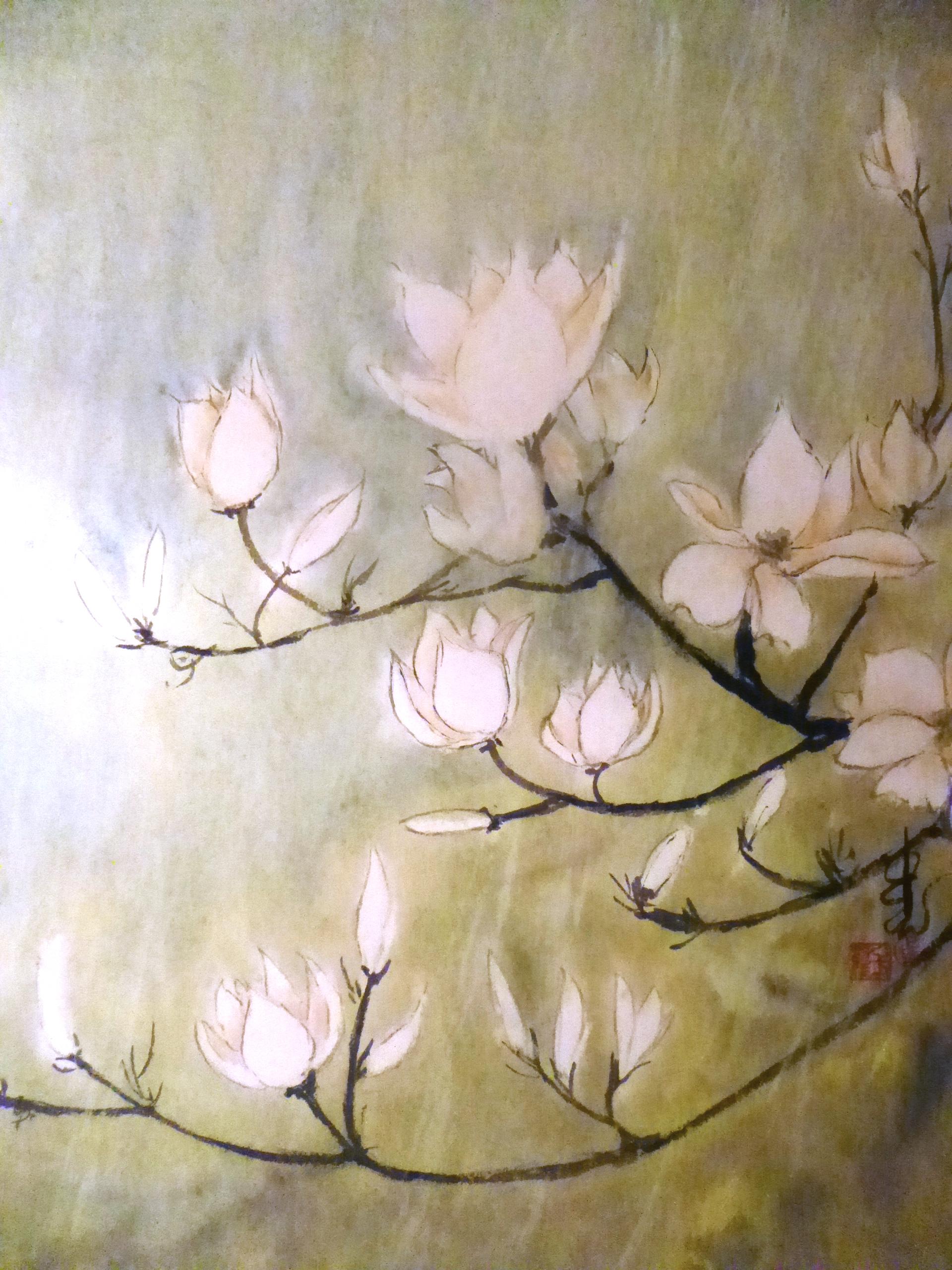 Magnolia Blooms II, Carol Waite