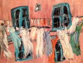 Wash Day, Norma Woodward