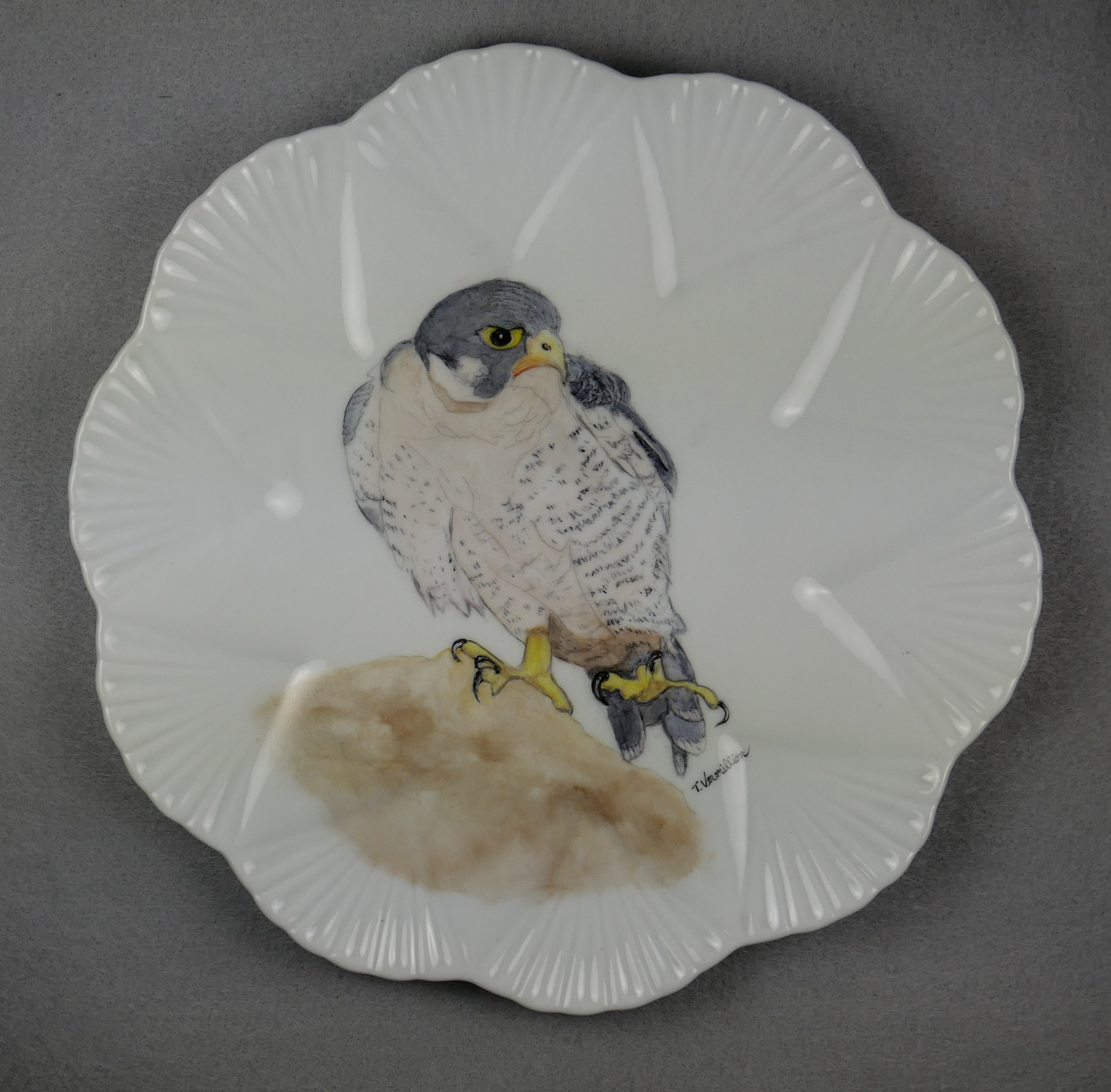 """Falcon Plate,"" by Trish Vermillion."