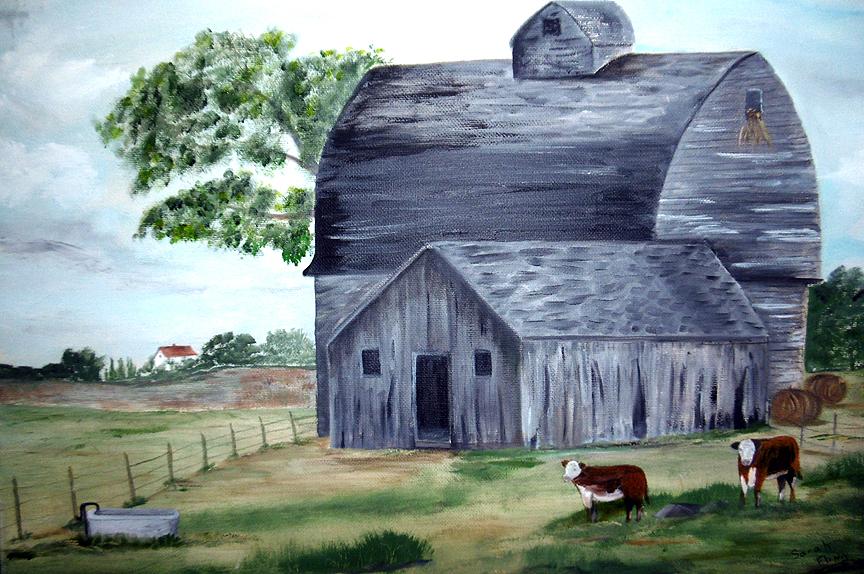 Old Grey Barn, Sarah Flinn