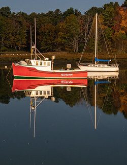 """All Calm on Kennebunk River,"" by Buddy Lauer."