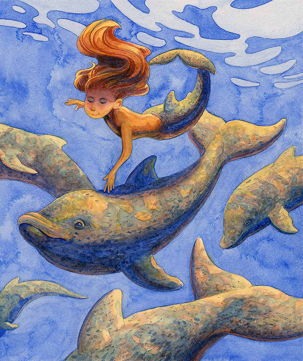 """Dolphins and Mermaid"" by Marianna Smith"