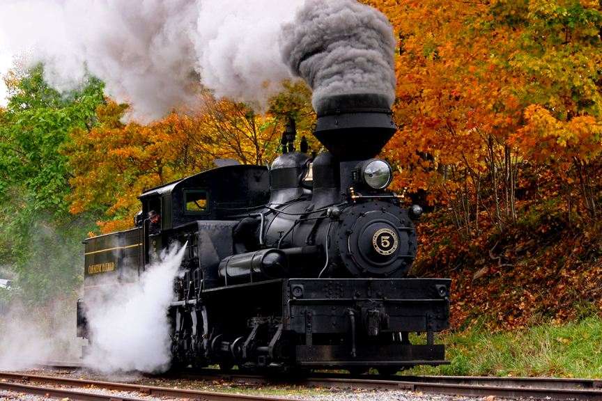 """AutumnTrain,"" by Norma Woodward."