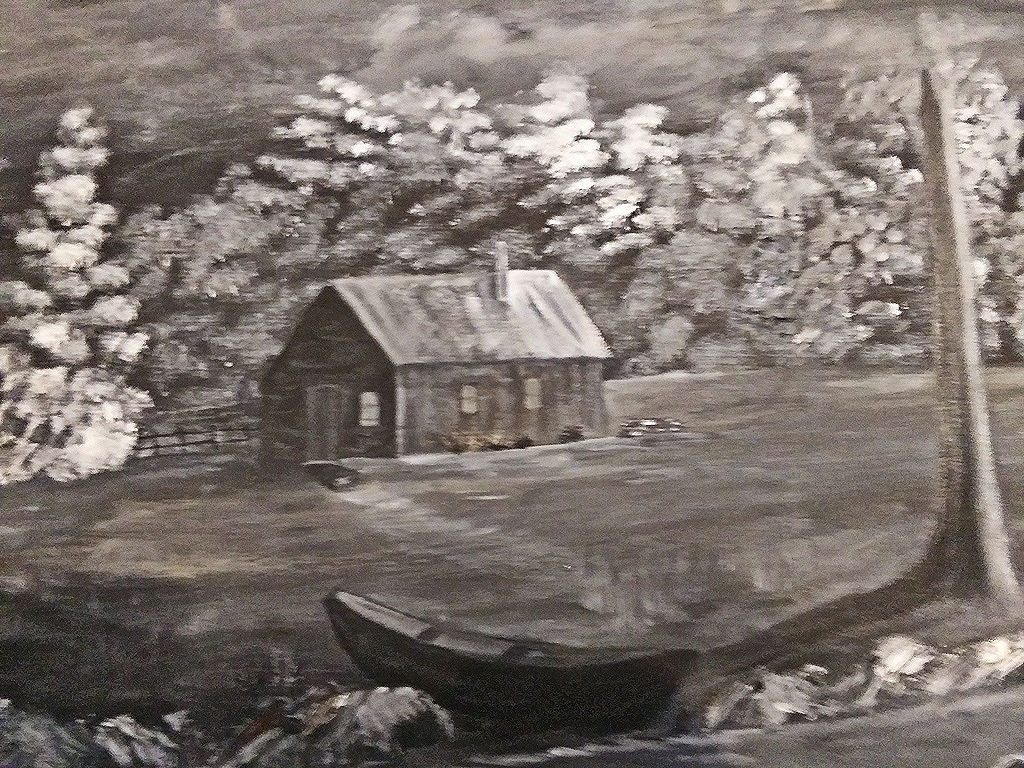 """Fishing Village,"" by Sarah Flinn."