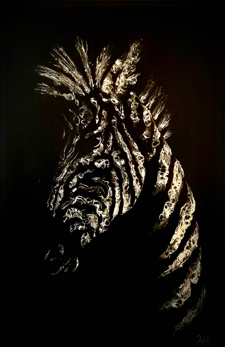 """""""Moonlit Zebra"""" by Hailey Light"""