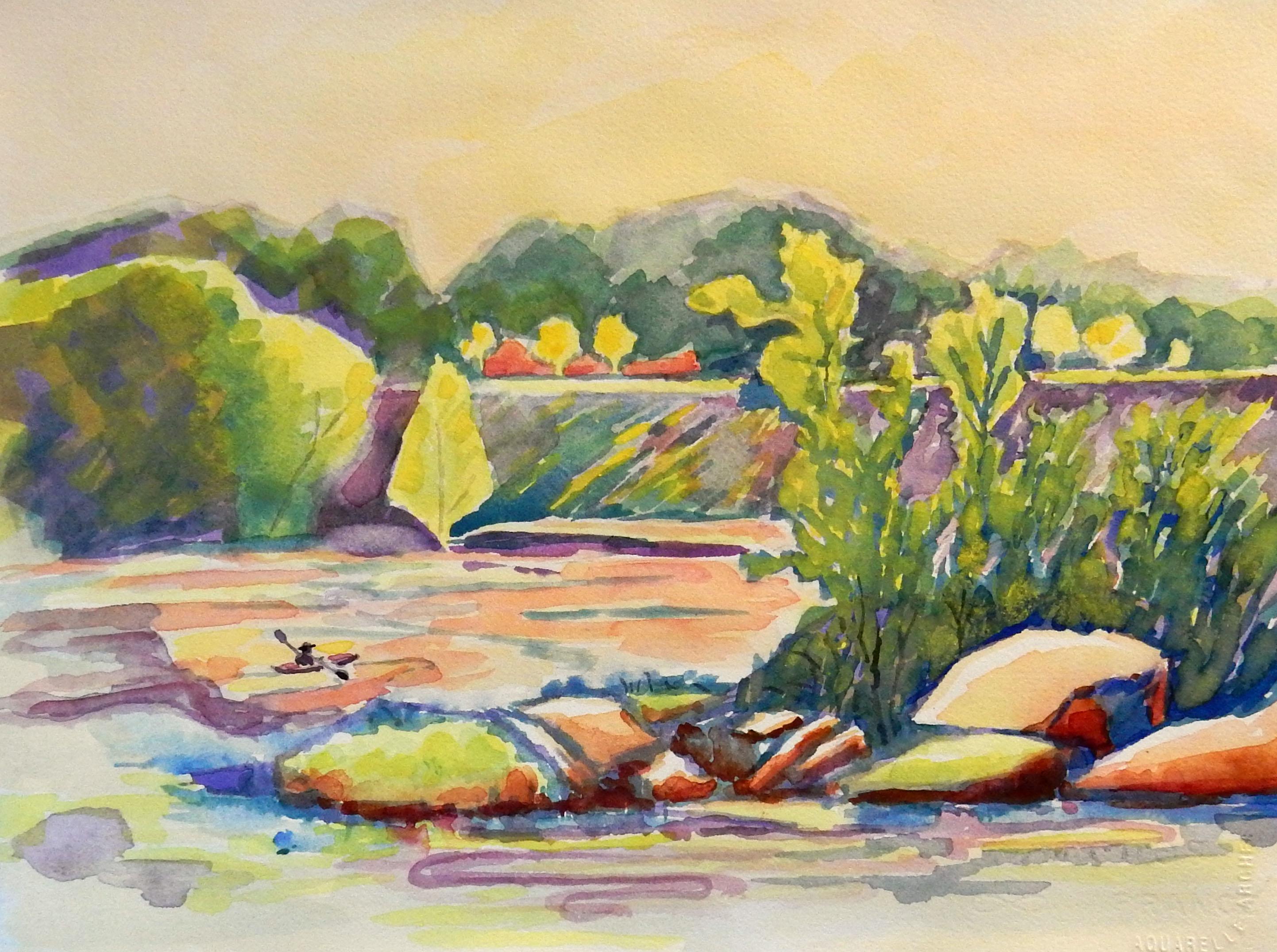 Downstream Paddler, Nancy Williams