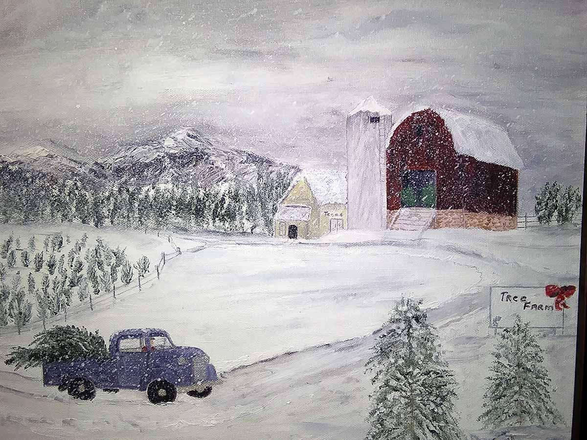 """""""Christmas Tree Farm"""" by Sarah Flinn"""