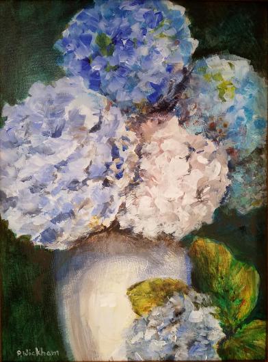 Blue Hydrangeas, Peggy Wickham