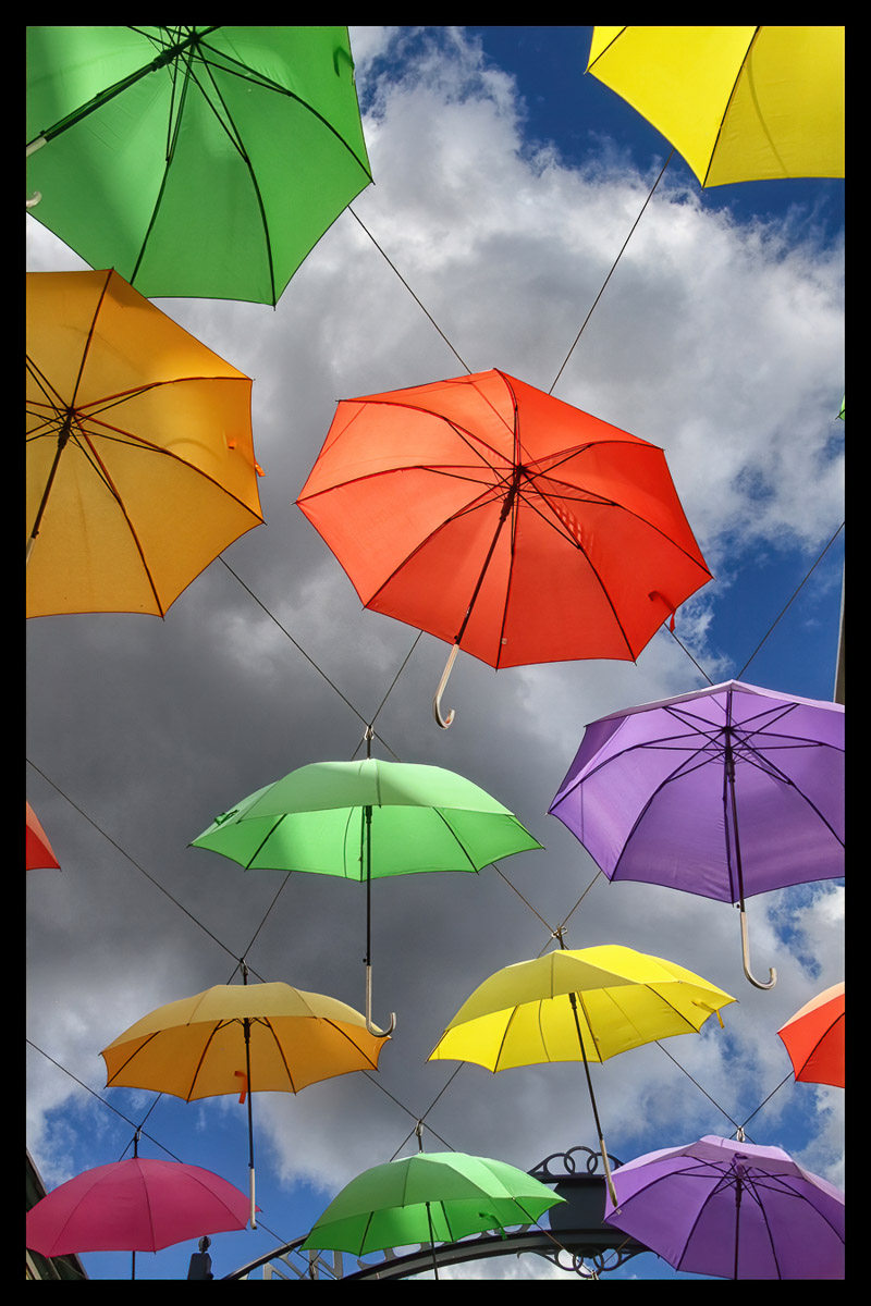 """Umbrellas"" by Norma Woodward"