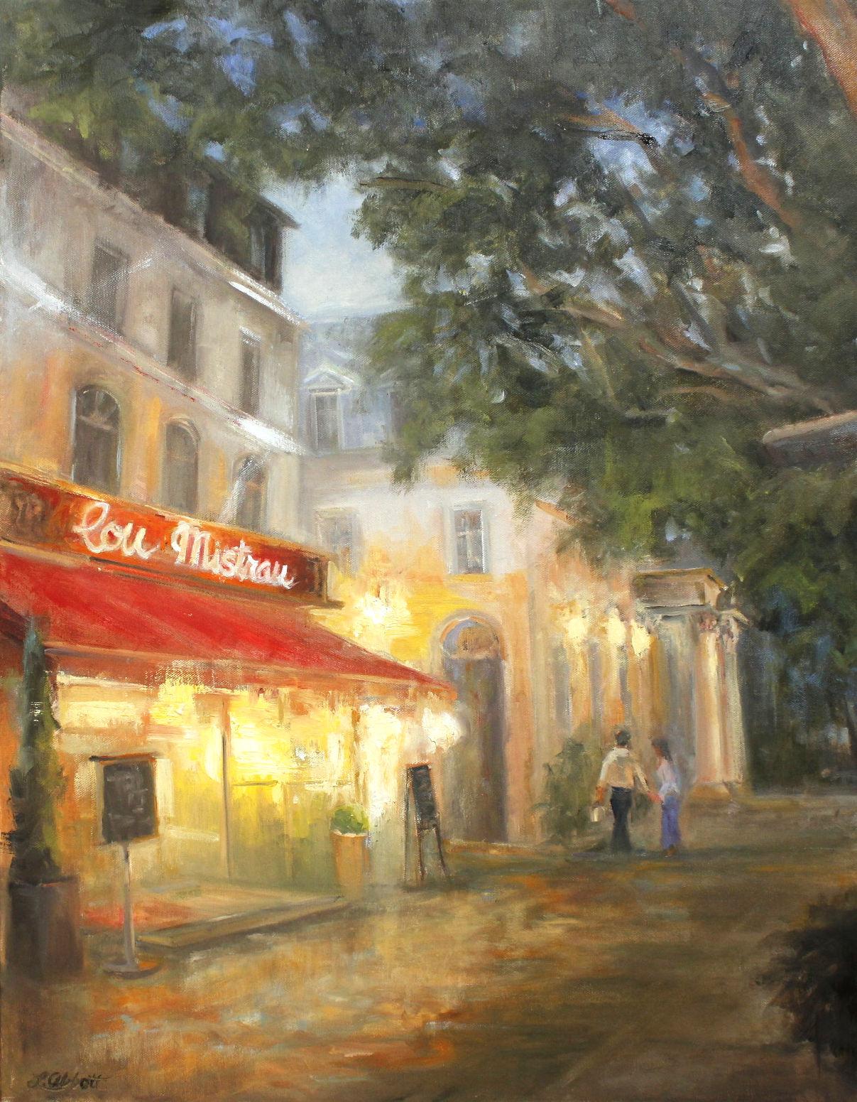 Evening in Avignon, Lynn Abbott