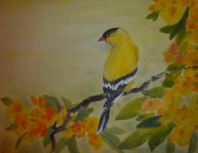 """Goldfinch,"" by Carol Waite."
