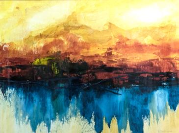Lake Reflection, Kathleen Willingham