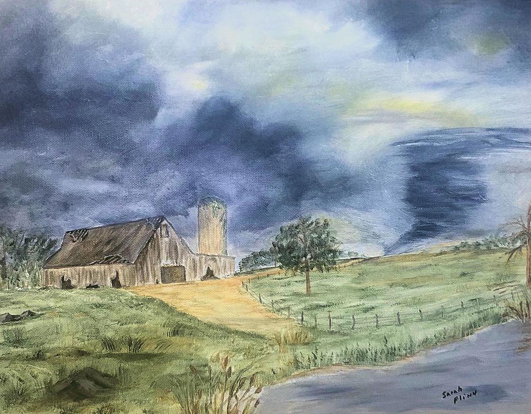 """""""Tornado Season,"""" by Sarah Flinn."""