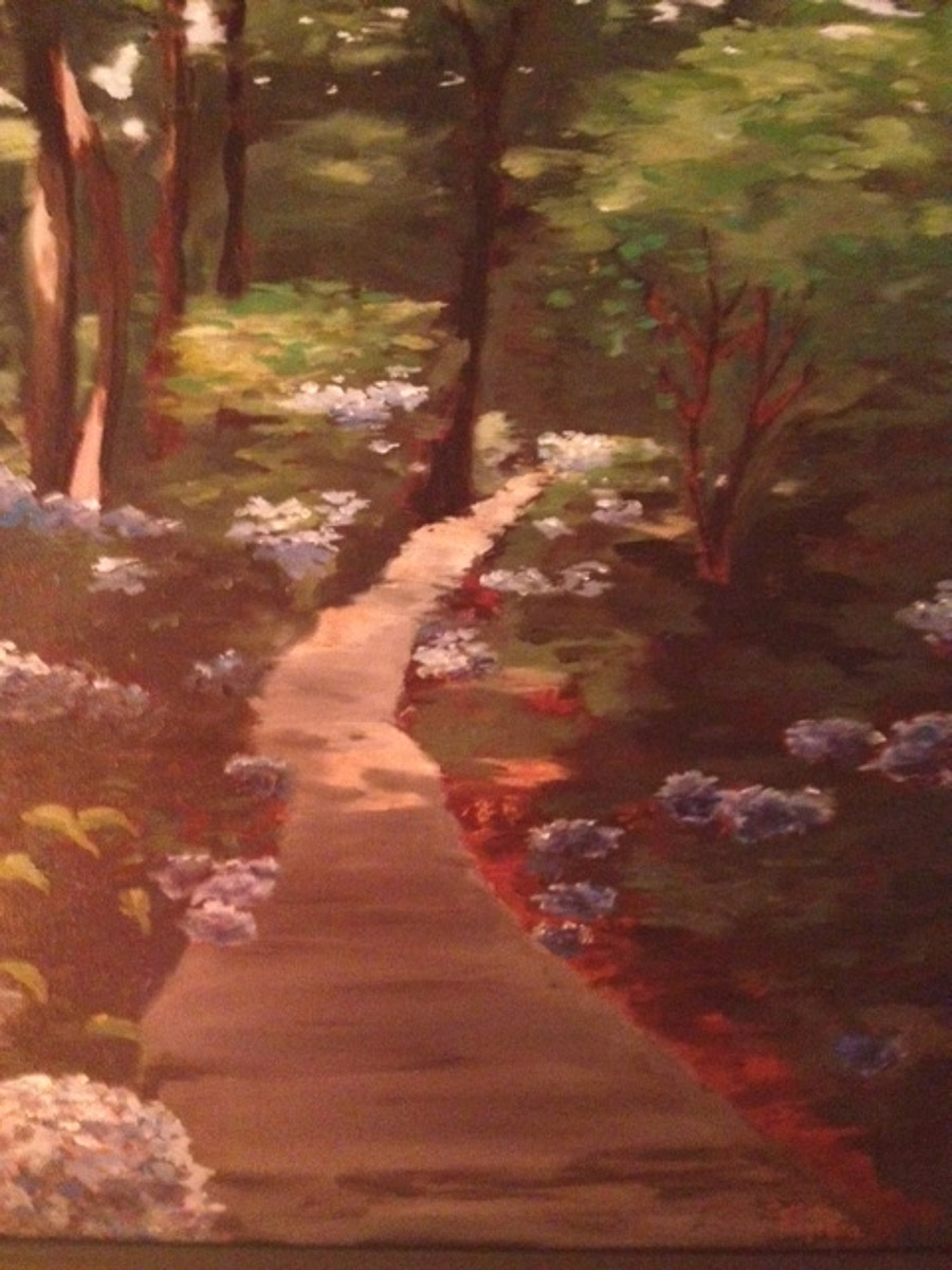 """Sun Dappled Path"", by Collette  Caprara  o"