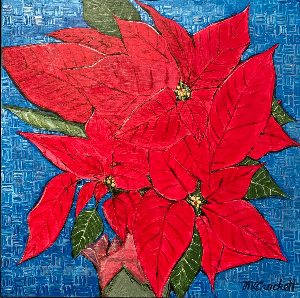 """Poinsettias"" by Megan Lee Crockett"