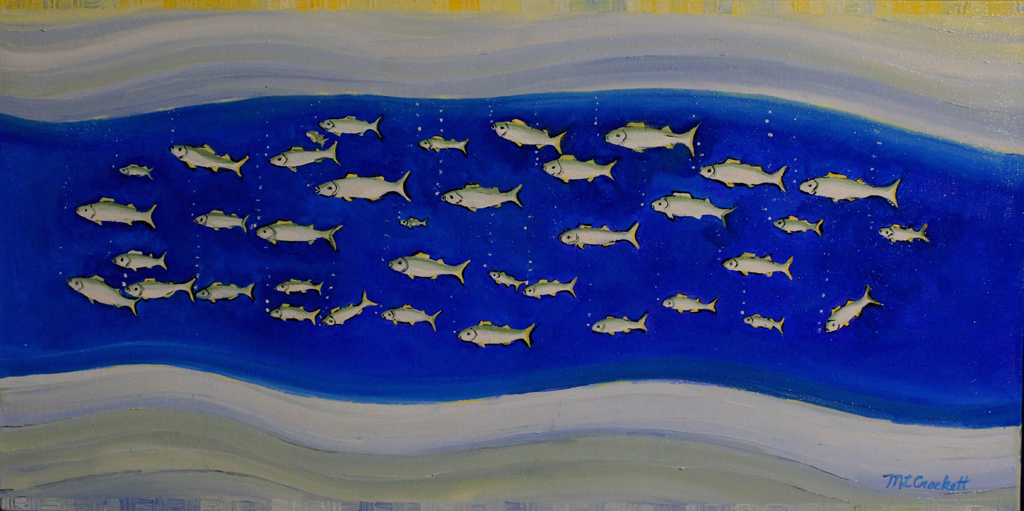 """School Fish Swim No. 2,"" by Megan Crockett."