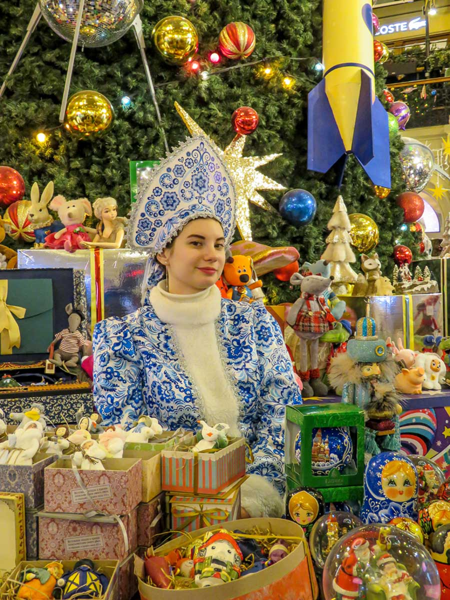 """""""Snow Maiden, GUM Moscow"""" by Penny A Parrish"""
