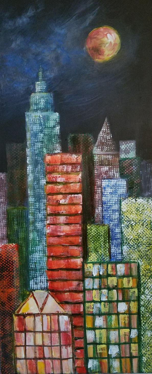 City Night Lights, Peggy Wickham