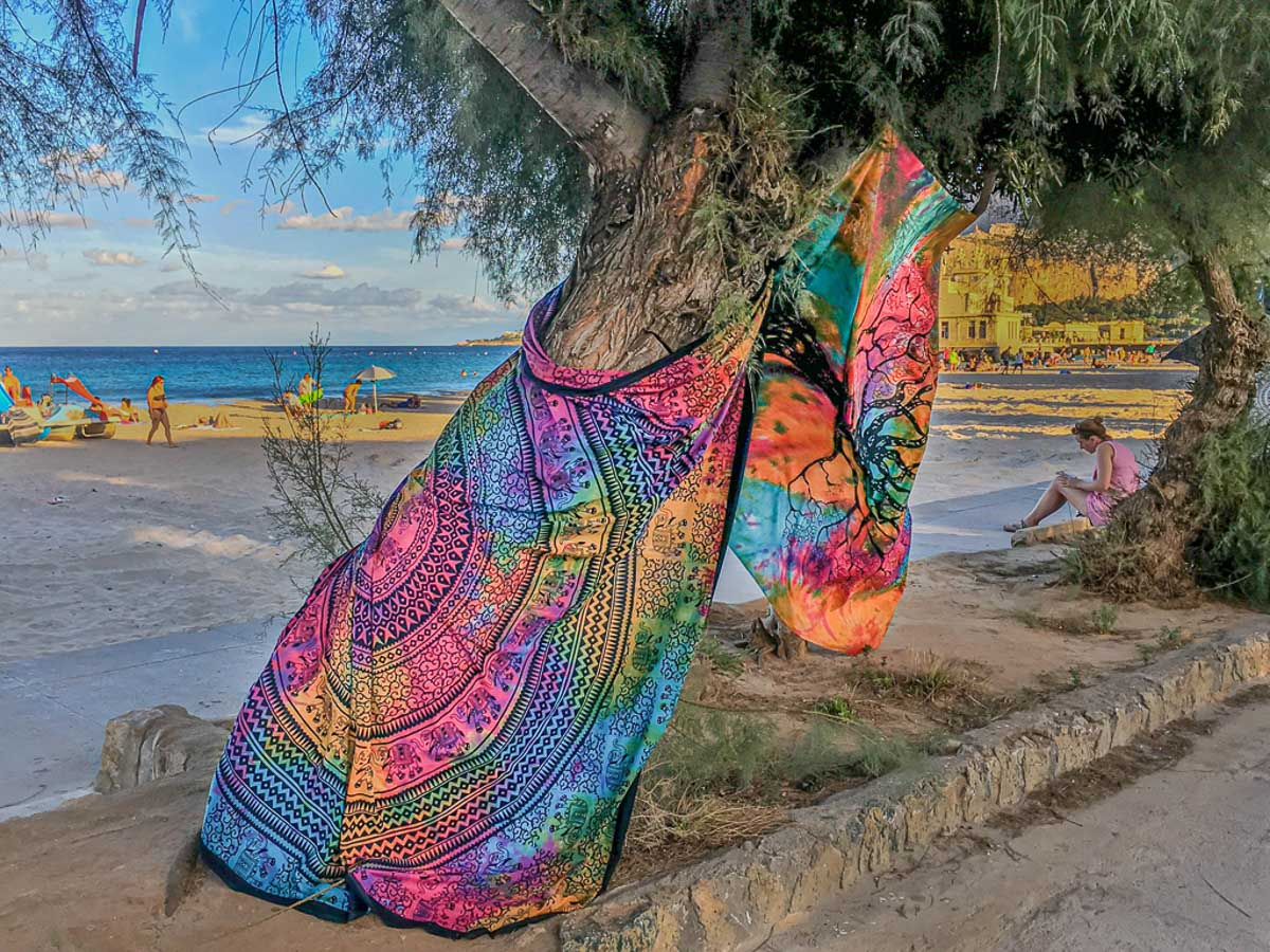 """""""Beach Blankets, Sicily"""" by Penny A Parrish"""