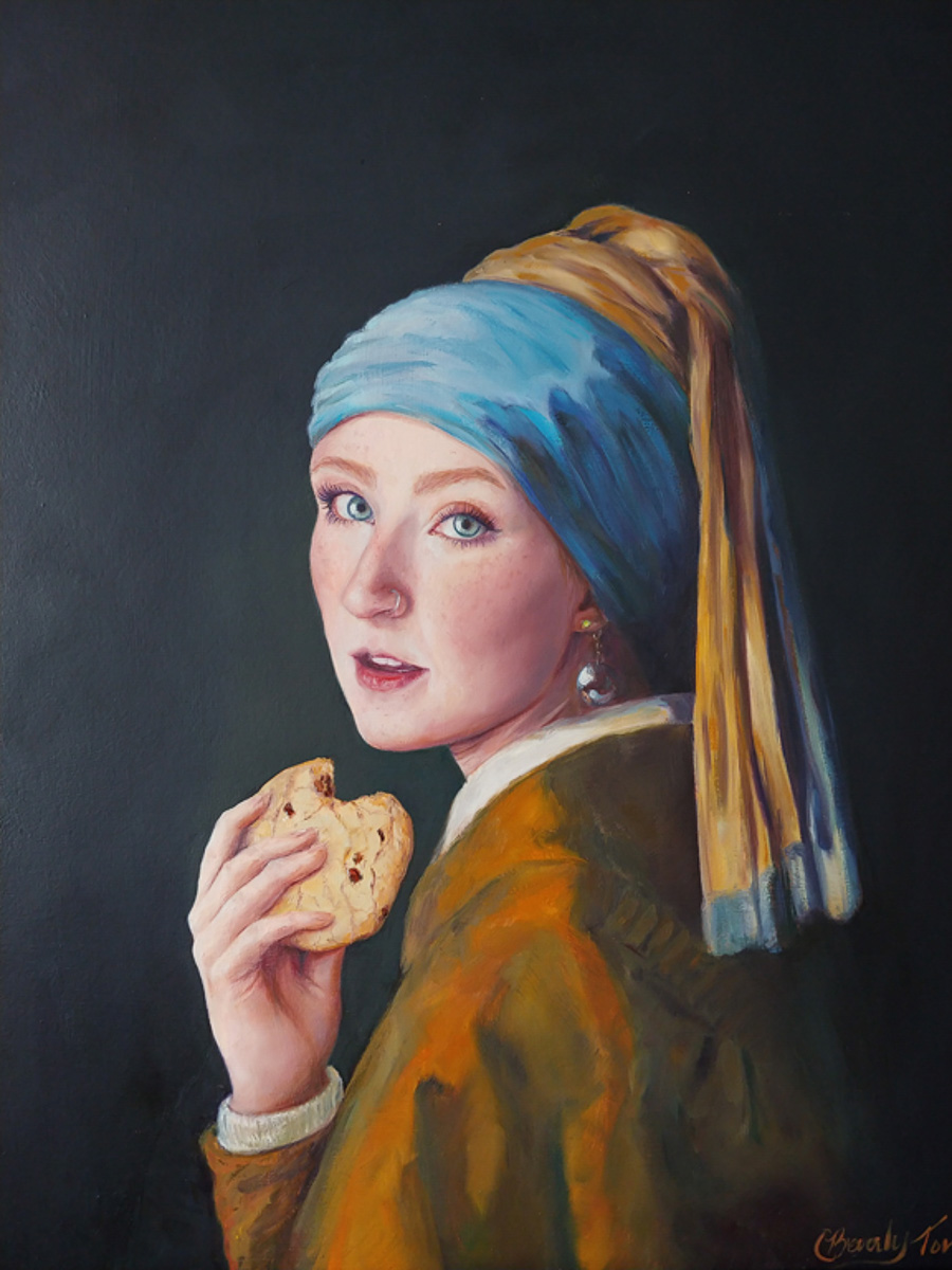 """Girl With the Chocolate Chuck Cookie"" by Beverly Toves"