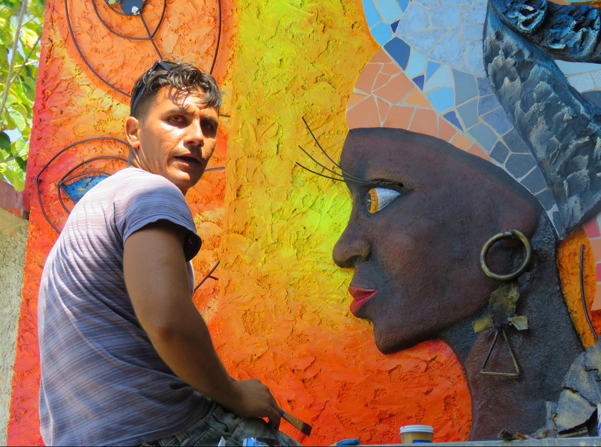 """""""Cuban Mural Artist,"""" Penny Parrish"""