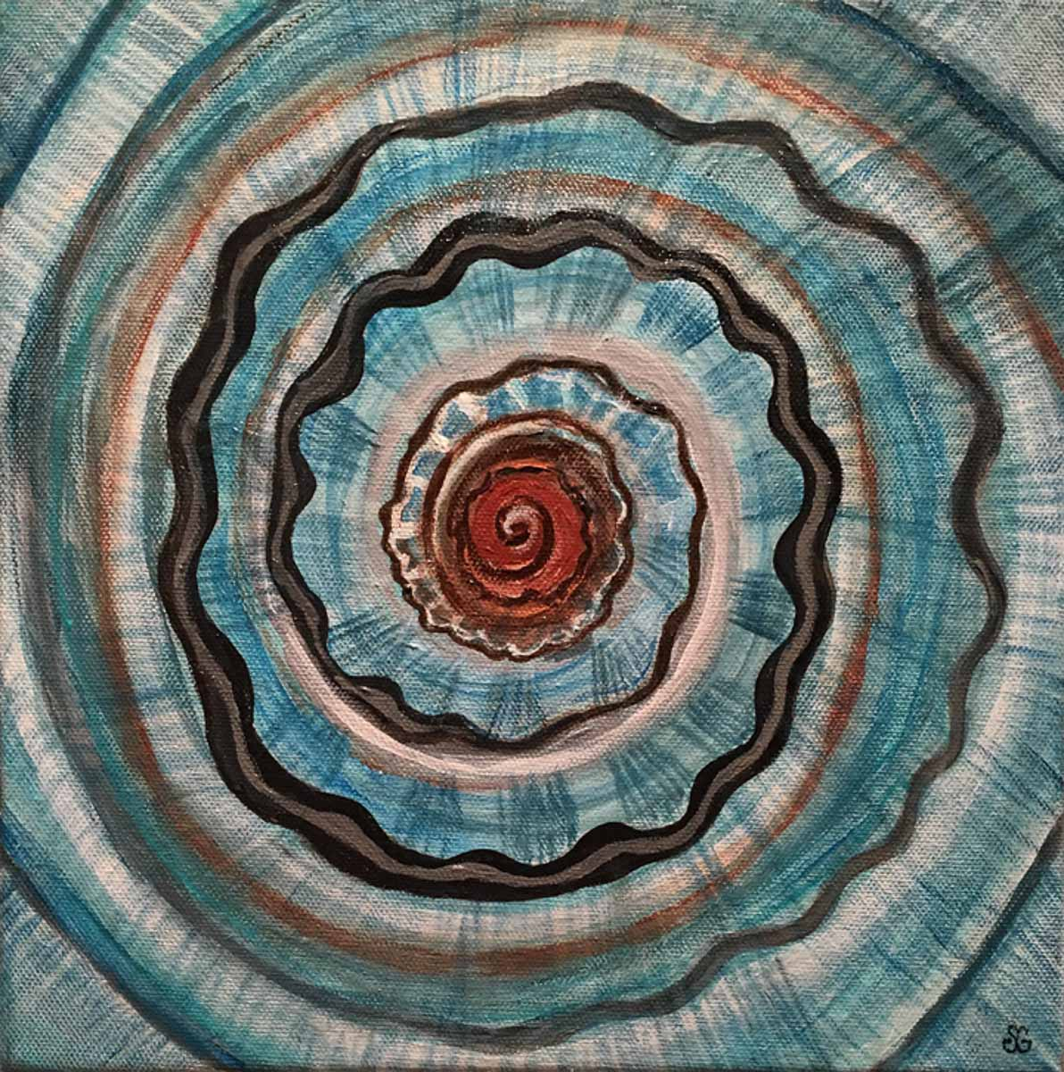 """Spiral Shell 2"" by Tracy Gaglio"