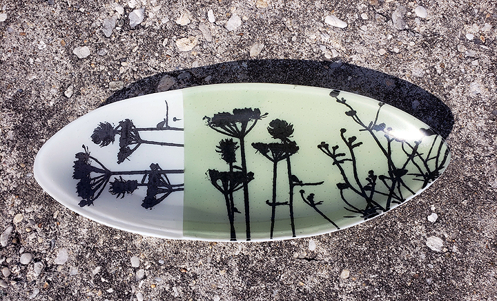 """Fused Glass Tray,"" by Lisa Gillen."