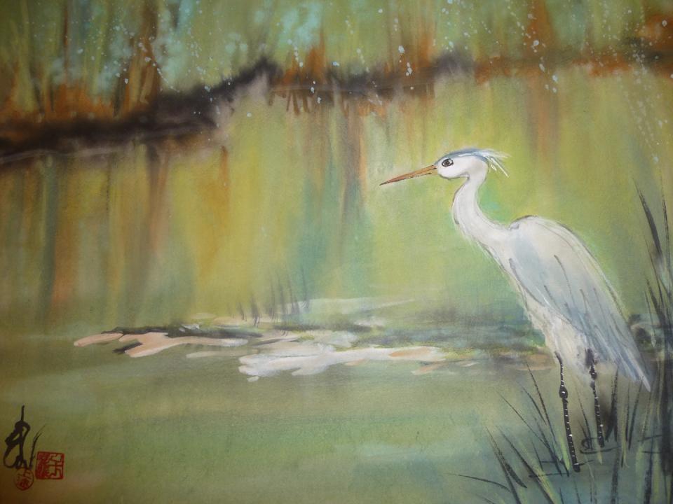 River Heron, Carol Waite