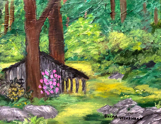 Norma Woodward_Woods Retreat_8x10_acryli