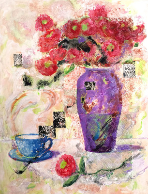 NancyWilliams_TeaTimeMemories_mixedmedia