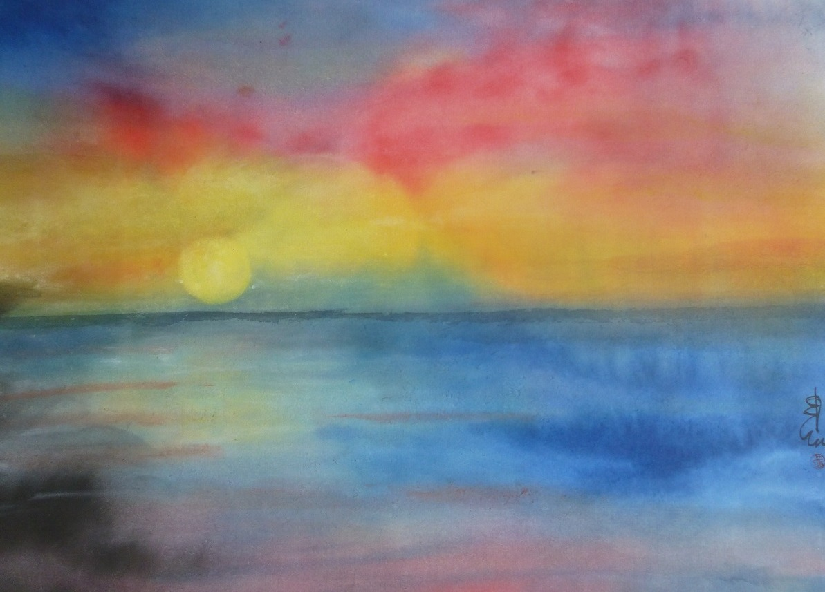 """Sea Sunset,"" by Carol Waite."