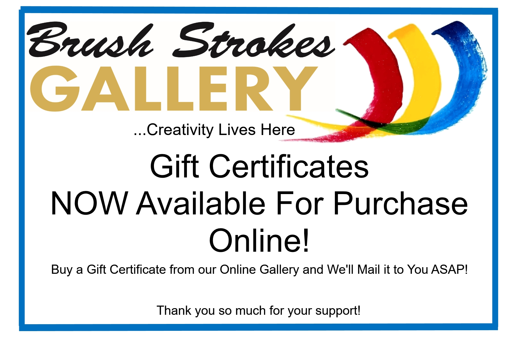 BSG Gift Certificates Now Available-page