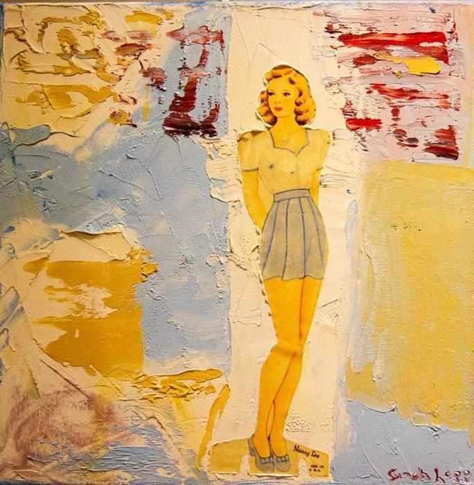 Nancy Lee, mixed media by Lapp