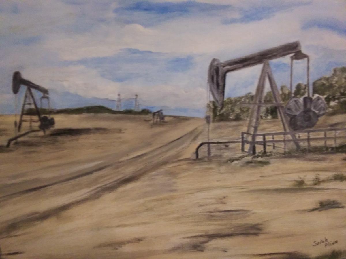 Texas Oil Fields by Sarah Flinn