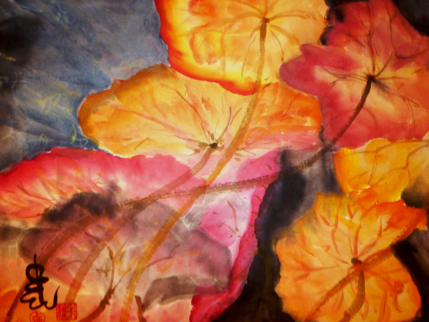 Carol Waite, Lotus Leaves